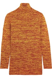 Miu Miu Wool Turtleneck Sweater Orange