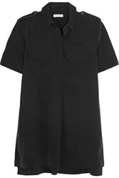 Equipment Major Washed Silk Shirt Dress Black