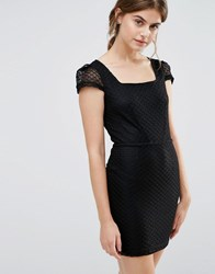 Jasmine Cap Sleeve Dress Black