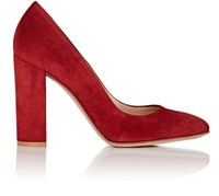 Gianvito Rossi Women's Linda Suede Pumps Red Burgundy Red Burgundy