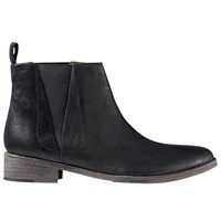 Jigsaw Hetti Casual Chelsea Boots Black Leather