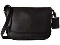 Polo Ralph Lauren Core Leather Messenger Black Messenger Bags