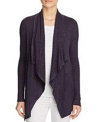 Velvet By Graham And Spencer Waffle Knit Open Cardigan Tar