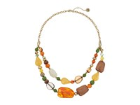 The Sak Double Layer Beaded Necklace 18 Multi Necklace