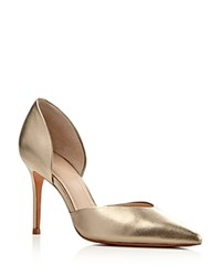 Marc Fisher Ltd. Tammy D'orsay Metallic Pointed Toe Pumps Gold