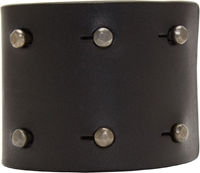 Rick Owens Black Matte Leather Studded High Cuff