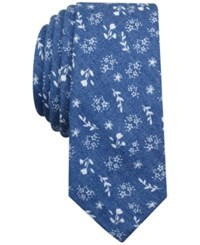 Penguin Men's Paradiso Floral Slim Tie Navy