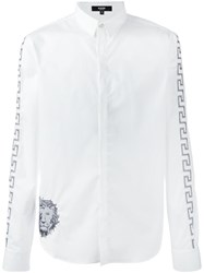 Versus Embroidered Lion Shirt White