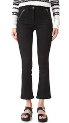 Veronica Beard Cropped Patch Pocket Pants Black