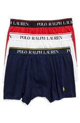 Polo Ralph Lauren Men's Stretch Cotton Boxer Briefs Red White Navy