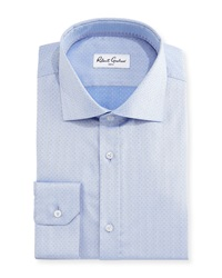 Robert Graham Ancore Herringbone Dress Shirt Blue