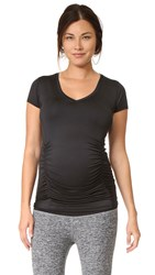 Beyond Yoga Featherweight Maternity V Neck Tee Black