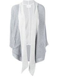 Lost And Found Shawl Collar Asymmetric Cardigan Grey