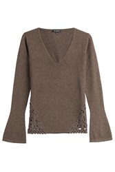 Etro Wool Cashmere Blend Pullover Brown