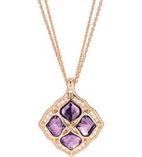 Chopard Imperiale 18Ct Rose Gold Amethyst And Diamond Lace Pendant