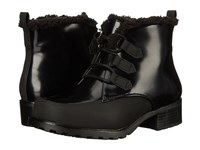 Trotters Snowflakes Iii Black Box Leather Man Made Women's Lace Up Boots