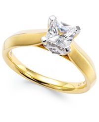 Macy's Certified Diamond Solitaire Ring In 14K Gold 1 Ct. T.W.