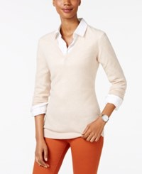 Charter Club Petite Cashmere V Neck Sweater Only At Macy's Cc Blush Heather