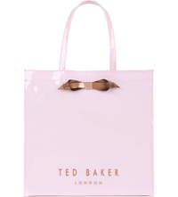 Ted Baker Tedcon Patent Bow Shopper Bag Baby Pink