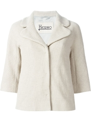 Herno Knitted Jacket Nude And Neutrals
