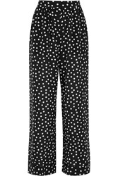 Dolce And Gabbana Polka Dot Silk Crepe De Chine Pajama Pants