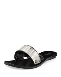 Melissa Shoes Cream Jelly Thong Sandal Black