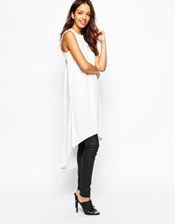 Daisy Street Maxi Tunic With Side Splits Cream