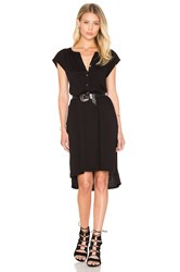 Velvet By Graham And Spencer Gaugina Cotton Slub Shirt Dress Black