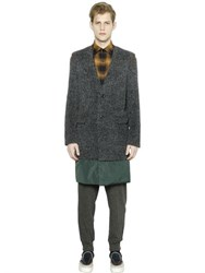 Kolor Fur Effect Alpaca Wool Coat