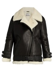 Acne Studios Velocite Shearling Jacket Black White