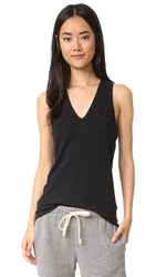 James Perse Skinny Brushed Jersey Tank True Black