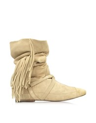Jerome Dreyfuss Arizona Sand Suede Firnged Boot