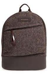 Want Les Essentiels Men's 'Kastrup' Wool Blend And Leather Backpack