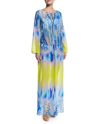 Etro Dip Dye Paisley Print Maxi Dress Coverup