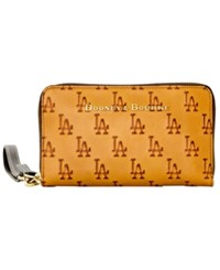 Dooney And Bourke Los Angeles Dodgers Leather Wristlet Royalblue