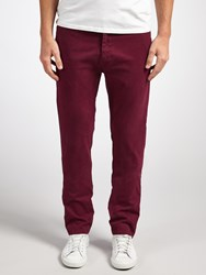 Scotch And Soda Dyed Slim Fit Stretch Chinos Bordeaux
