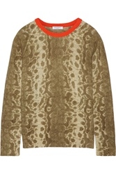 Equipment Sloane Snake Print Cashmere Sweater