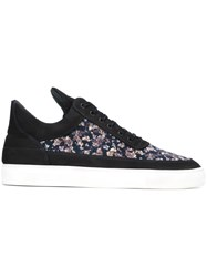 Filling Pieces Floral Print Sneakers Blue