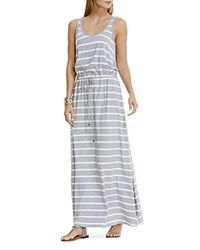 Vince Camuto Two By Striped Drawstring Maxi Dress Light Heather Grey