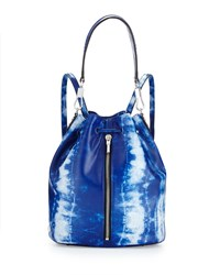 Elizabeth And James Cynnie Tie Dye Leather Drawstring Backpack Indigo