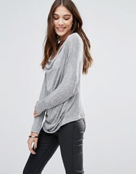 Wal G Top With Cowl Neck Black