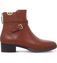 Tory Burch Sidney Wrap Around Leather Boots Tan