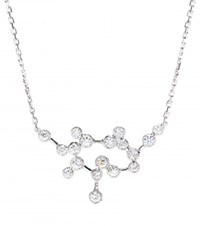 Stone Love Is In The Air 18Kt White Gold Necklace With Diamonds Silver
