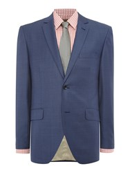 Corsivo Antonio Textured Suit Jacket Blue
