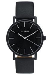 Pilgrim Watch Hematite Black