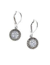 Judith Jack Cubic Zirconia And Marcasite Drop Earrings Silver