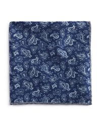 Bloomingdale's The Men's Store At Paisley Pine Pocket Square Navy
