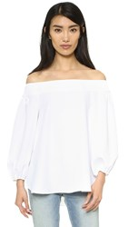 Tibi Off Shoulder Top White