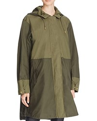 French Connection Mili Canvas Anorak Dark Olive Night Olive Night