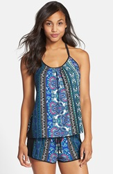 In Bloom By Jonquil Camisole And Shorts Blue Black